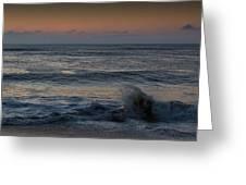 Assateague Waves Greeting Card