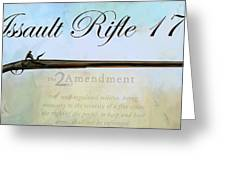 Assault Rifle Greeting Card by GCannon