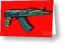 Assault Rifle Pop Art - 20130120 - V1 Greeting Card