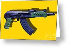 Assault Rifle Pop Art - 20130120 - V2 Greeting Card