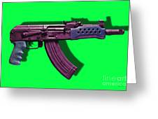 Assault Rifle Pop Art - 20130120 - V3 Greeting Card by Wingsdomain Art and Photography