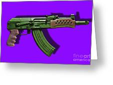 Assault Rifle Pop Art - 20130120 - V4 Greeting Card