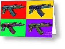 Assault Rifle Pop Art Four - 20130120 Greeting Card