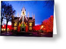 Assembly Hall Slc Temple Greeting Card by La Rae  Roberts