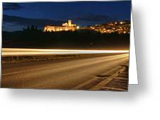 Assisi By Night Greeting Card