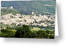 Assisi Italy - Medieval Hilltop City Greeting Card
