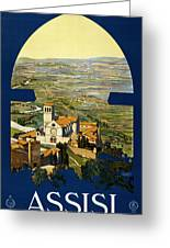 Assisi Italy Greeting Card by Georgia Fowler