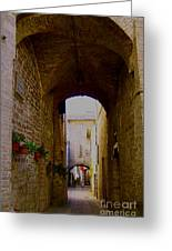 Assisi Walkway Greeting Card