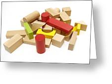 Assorted Building Blocks Greeting Card