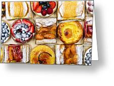 Assorted Tarts And Pastries Greeting Card by Elena Elisseeva