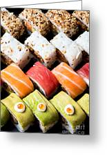 Assortment Of Sushi Greeting Card