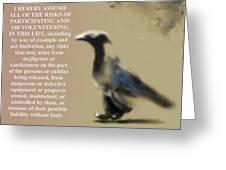 Assuming Corvus Greeting Card