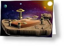Asteroid Terminal Greeting Card