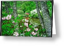 Asticou Azalea Garden Greeting Card