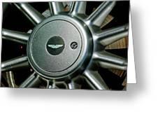 Aston Martin Db7 Wheel Emblem Greeting Card