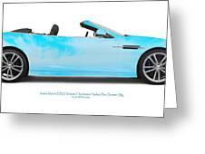 Aston Martin Dbs Fort Sumter Sky Greeting Card