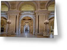 Astor Hall At The New York Public Library Greeting Card
