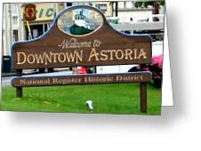 Astoria Oregon Greeting Card