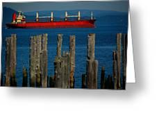 Astoria Tanker Greeting Card