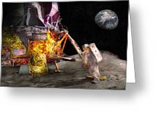 Astronaut - One Small Step Greeting Card