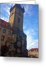 Astronomical Clock Of Prague Greeting Card