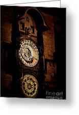 Astronomical Clock Prague Czech Republic Greeting Card