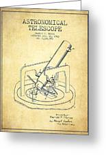 Astronomical Telescope Patent From 1943 - Vintage Greeting Card