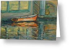 At Boat House 2 Greeting Card