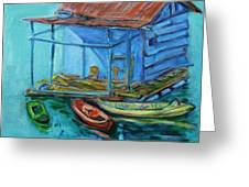 At Boat House Greeting Card