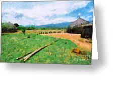 At Ethiopian Village Painting Greeting Card