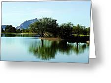 At Fountain Park - View At Red Rock Greeting Card