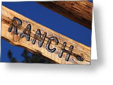 At Home On The Ranch Greeting Card