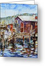 At Monterey Wharf Ca Greeting Card