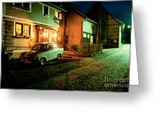 At Night In Thuringia Village Germany Greeting Card