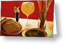 At Our Italian Restaurant Greeting Card