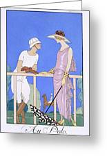 At Polo Greeting Card by Georges Barbier
