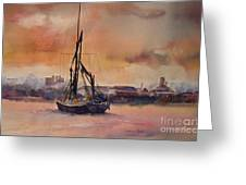 At Rest On The Thames London Greeting Card
