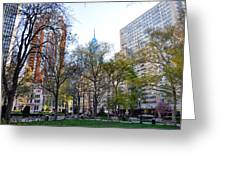 At Rittenhouse Square Greeting Card