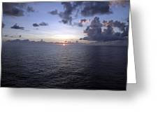 At Sea -- A Sunrise Begins Greeting Card