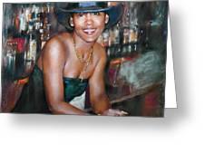 At The Bar Greeting Card