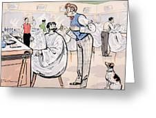 At The Barber And Reading Le Jockey Greeting Card