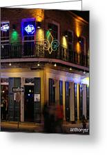 At The  Club On Bourbon Greeting Card