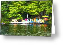 At The Cottage Dock Greeting Card