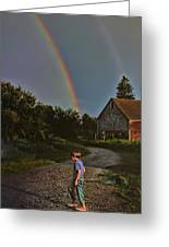 At The End Of A Rainbow Greeting Card
