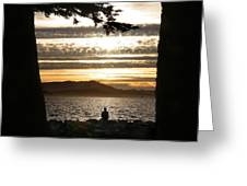 At The End Of The Day Greeting Card