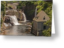 At The Falls In Ausable Ny Greeting Card