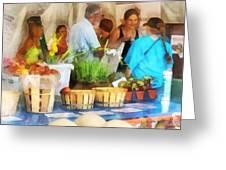 At The Farmer's Market Greeting Card