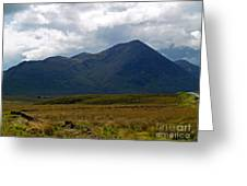 At The Foot Of The Mountain Greeting Card