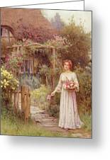 At The Garden Gate Greeting Card