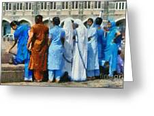 At The Gateway Of India Greeting Card